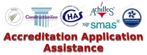 EXOR, CHAS, SafeContractor, Constructionline, SMAS, Delta E-Sourcing and Achilles SSIP application